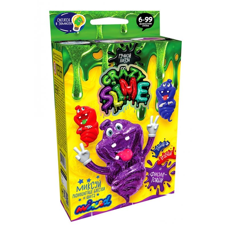"""Набор для опытов Crazy Slime  Лизун своими руками (фиолетовый) купить в магазине """"Пустун"""""""