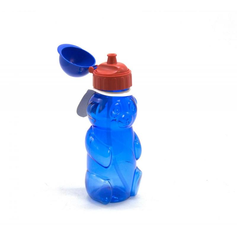 """Бутылочка для воды """"Мишка"""" с пипеткой, 500 мл (синяя) 036 купить в магазине """"Пустун"""""""