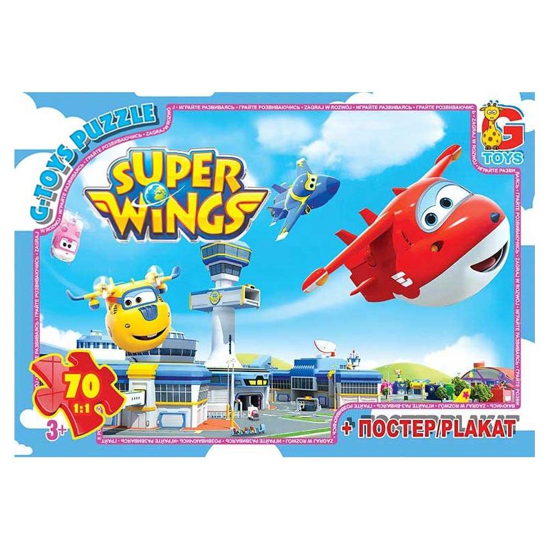 """Пазлы """"Супер Крылья"""", 70 элементов UW226 купить в магазине """"Пустун"""""""