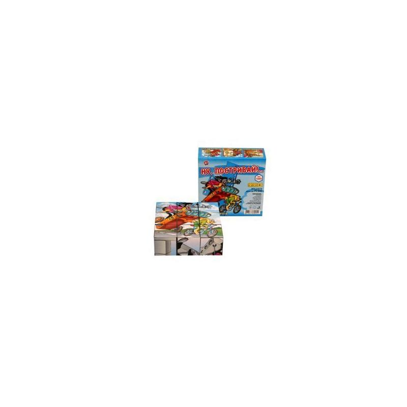 """Кубики Ну Погоди ТехноК 9 кубиков купить в магазине """"Пустун"""""""