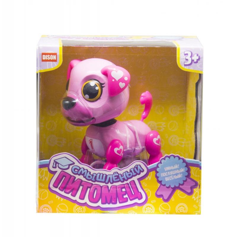 """Интерактивная игрушка Смышлённый питомец щенок розовый купить в магазине """"Пустун"""""""