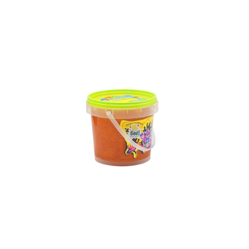 """Лизун антистресс Mr Boo с глиттером 500 г оранжевый купить в магазине """"Пустун"""""""