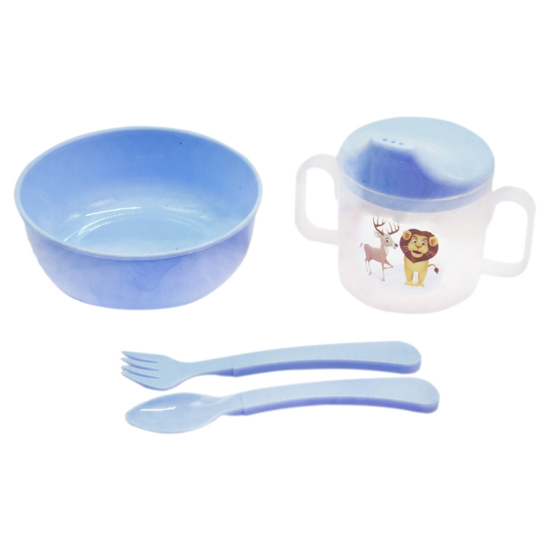 """Набор детской посуды """"Honey Baby"""" (голубой) 130 купить в магазине """"Пустун"""""""