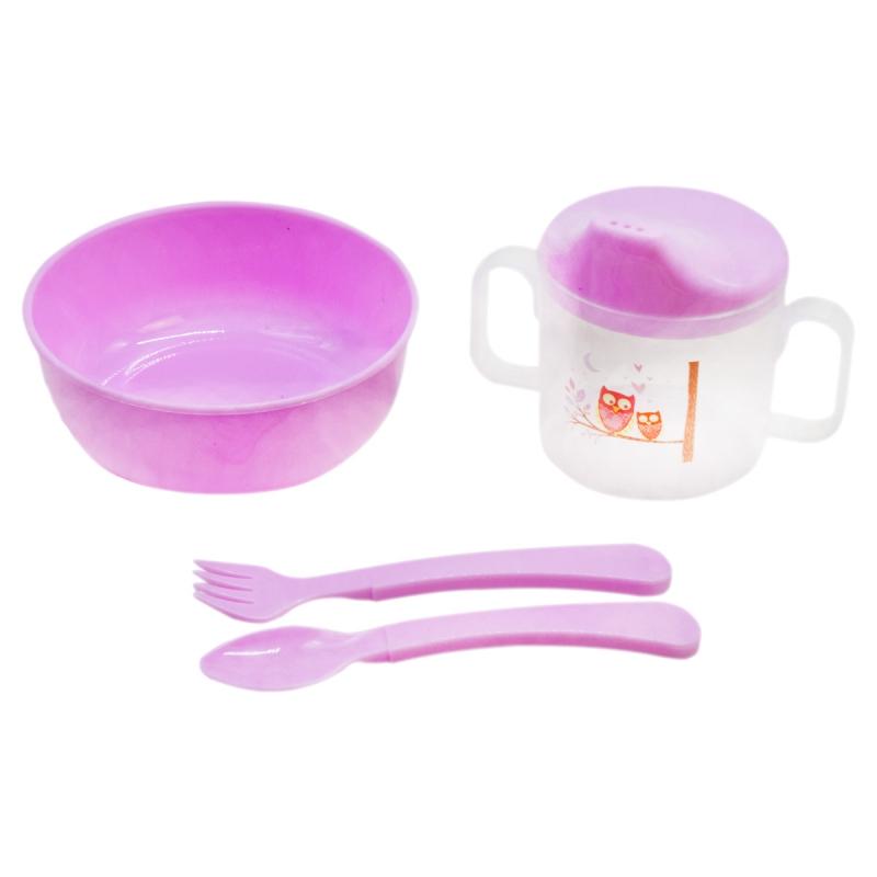 """Набор детской посуды """"Honey Baby"""" (розовый) 130 купить в магазине """"Пустун"""""""