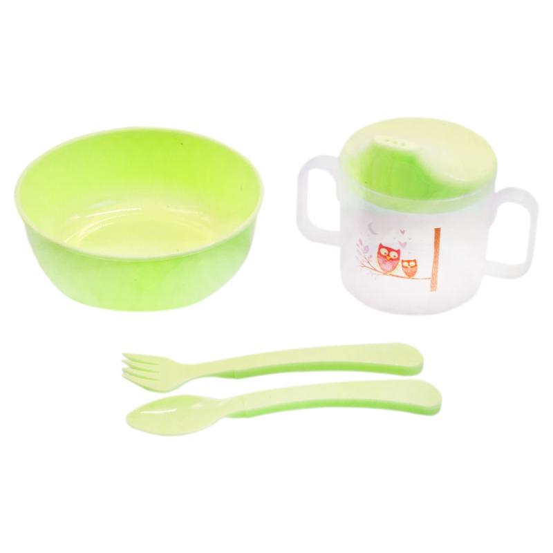 """Набор детской посуды """"Honey Baby"""" (салатовый) 130 купить в магазине """"Пустун"""""""