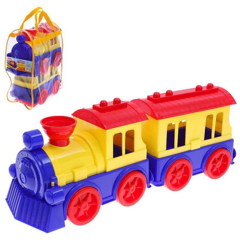 """Поезд с вагоном, пластиковый 0651 купить в магазине """"Пустун"""""""