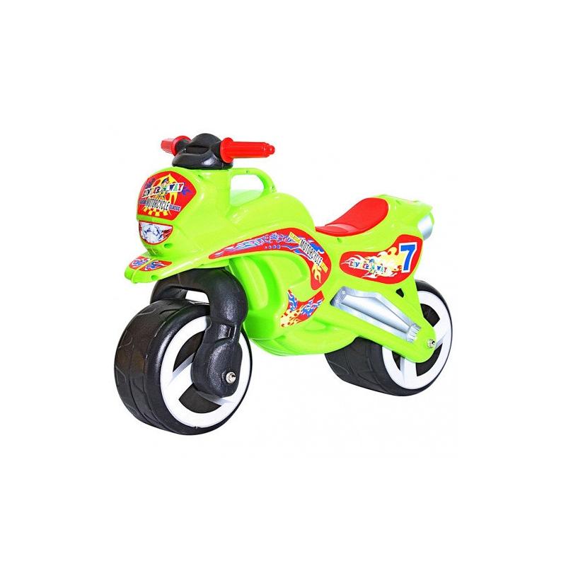 """Каталка """"Мотоцикл"""" (салатовый) KW-11-006 купить в магазине """"Пустун"""""""