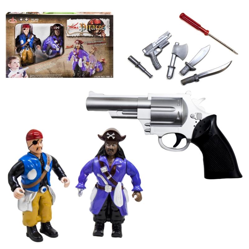 """Игровой набор с фигурками пиратов и пистолетом купить в магазине """"Пустун"""""""