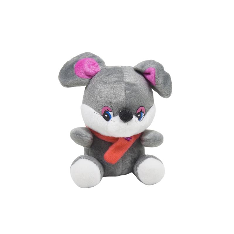 """Мягкая игрушка Мышка в шарфике с цветочком купить в магазине """"Пустун"""""""