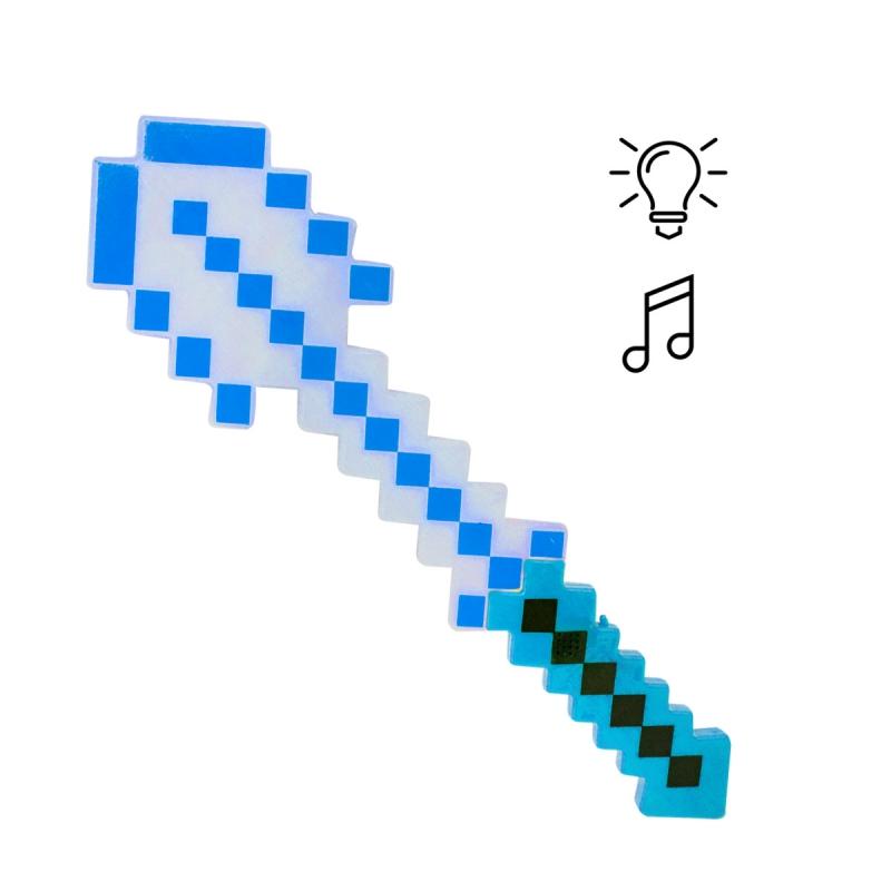 """Алмазная лопата Майнкрафт свет звук синяя купить в магазине """"Пустун"""""""
