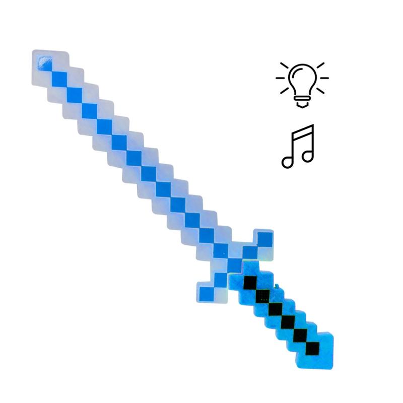 """Меч Майнкрафт свет, звук (синий) купить в магазине """"Пустун"""""""