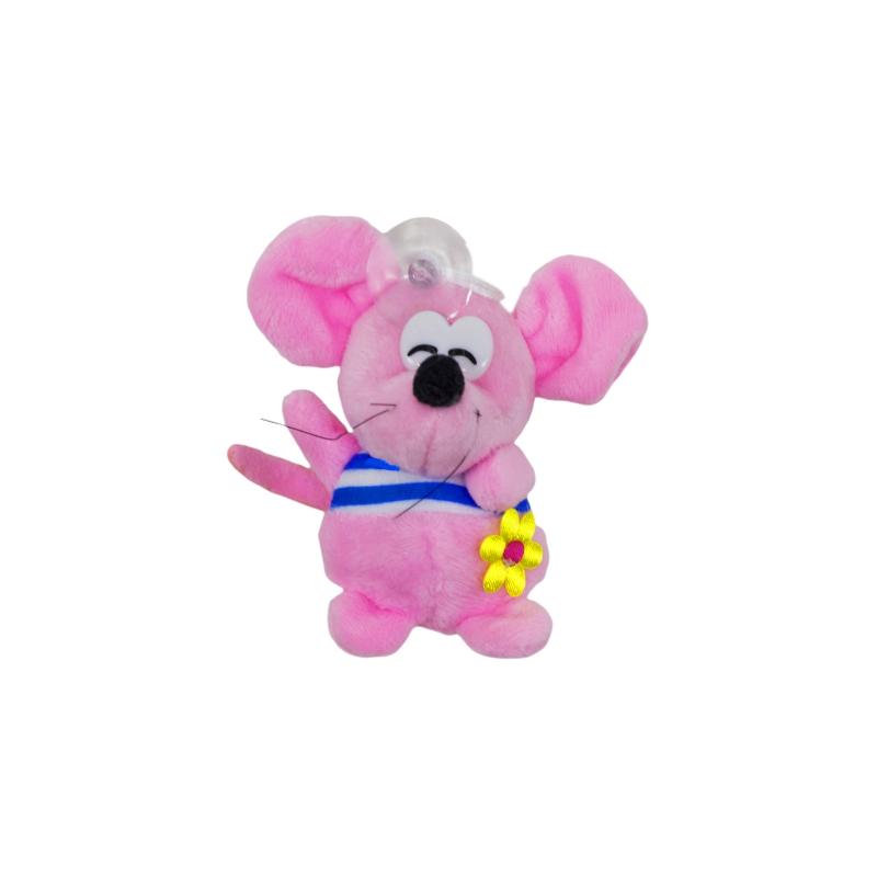 """Мягкая игрушка Мышка в полосатой кофточке (розовая) купить в магазине """"Пустун"""""""