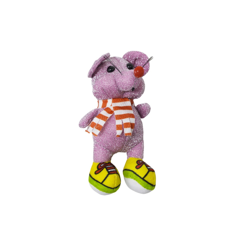 """Мягкая игрушка Блестящая мышка в кедах розовая купить в магазине """"Пустун"""""""