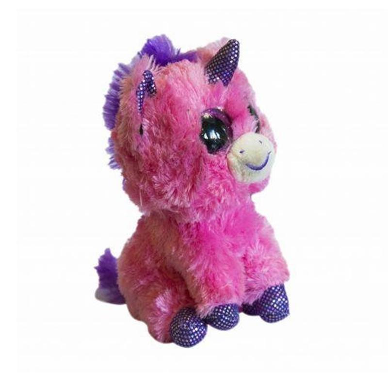 """Мягкая игрушка Глазастик: розовый единорог купить в магазине """"Пустун"""""""