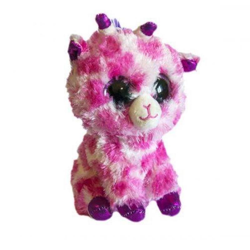 """Мягкая игрушка Глазастик: розовый жирафик купить в магазине """"Пустун"""""""