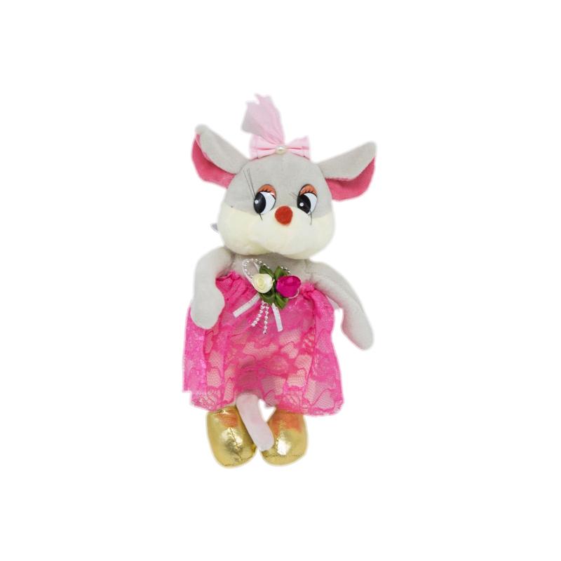 """Мягкая игрушка Мышка в юбке серая купить в магазине """"Пустун"""""""
