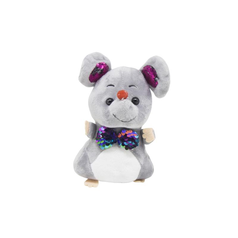 """Мягкая игрушка Мышка с галстуком серая купить в магазине """"Пустун"""""""