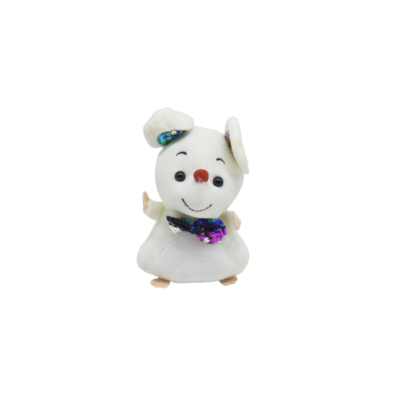 """Мягкая игрушка Мышка с галстуком белая купить в магазине """"Пустун"""""""
