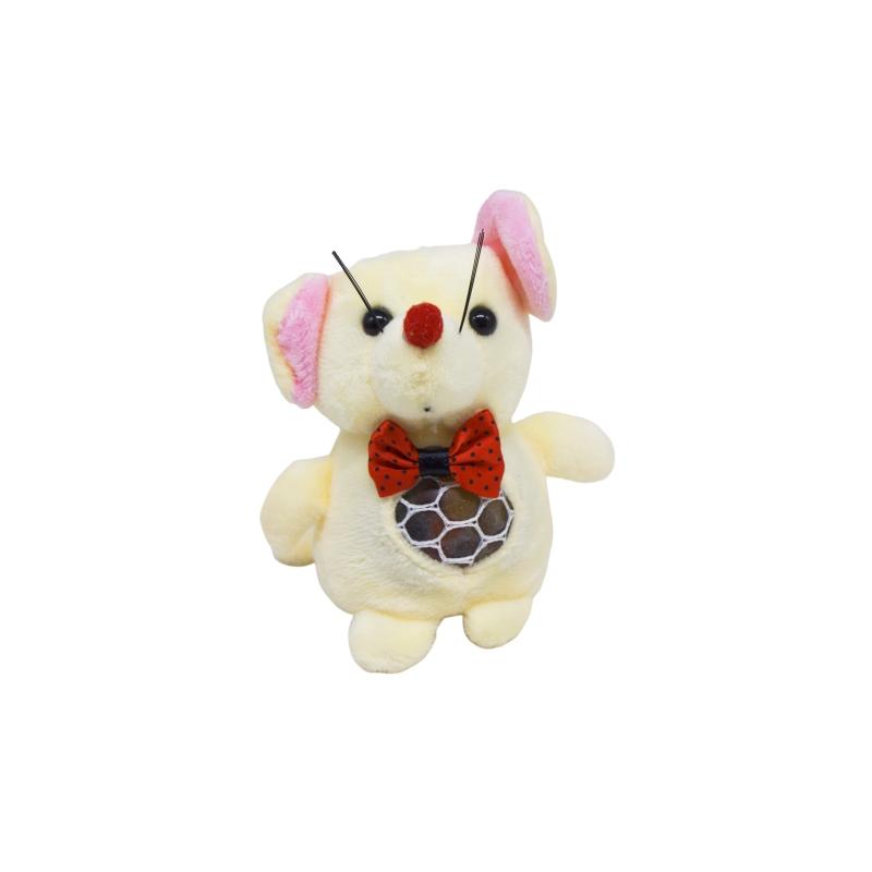 """Мягкая игрушка Мышка с орбизами бежевая купить в магазине """"Пустун"""""""