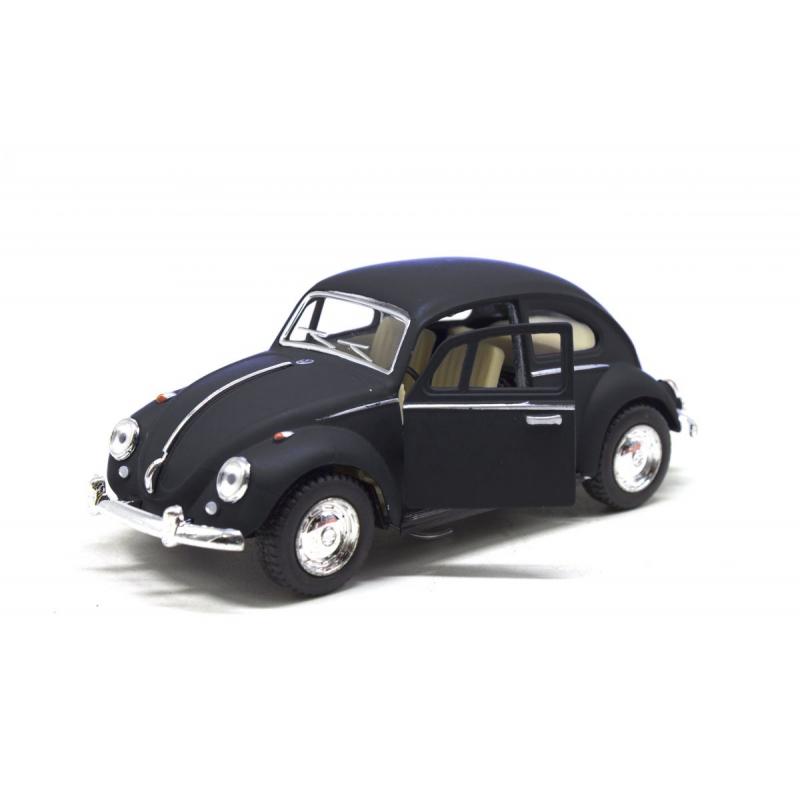 """Машинка KINSMART Volkswagen Beetle, матовая (черная) купить в магазине """"Пустун"""""""