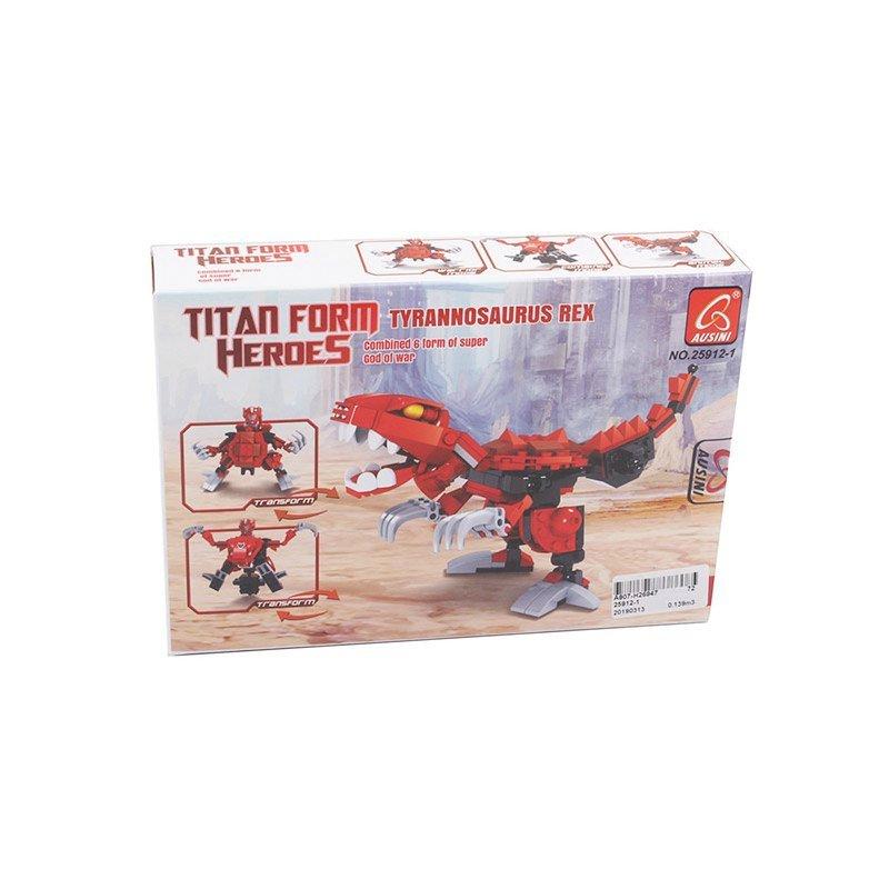 """Конструктор Робот-динозавр. Тиранозавр 147 деталей купить в магазине """"Пустун"""""""