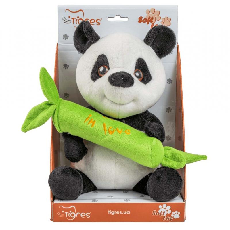 """Мягкая игрушка TIGRES Панда с бамбуком (ІГ-0069) купить в магазине """"Пустун"""""""