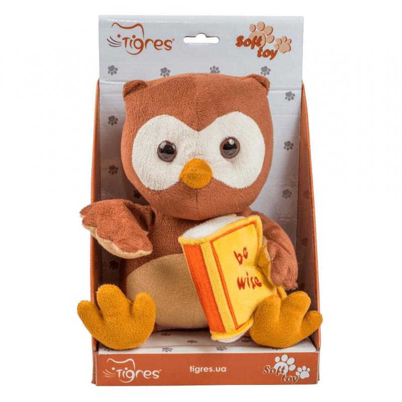 """Мягкая игрушка TIGRES Сова с книгой (ІГ-0071) купить в магазине """"Пустун"""""""