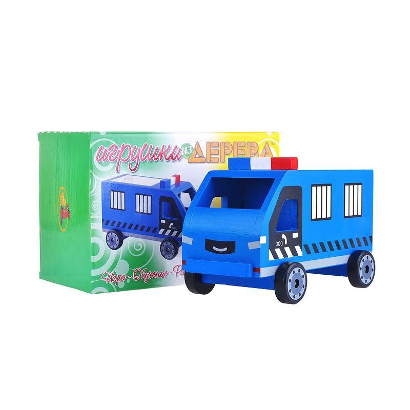 """Машинка деревянная  """"Полиция"""" Д303 купить в магазине """"Пустун"""""""