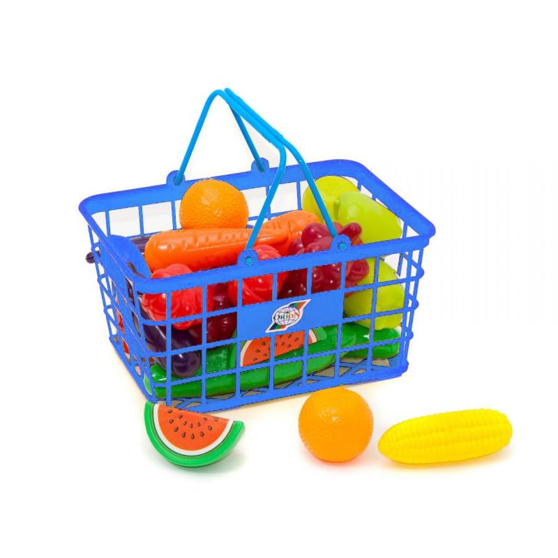 """Корзина с продуктами """"Урожай"""", 25 эл (голубая) 379 в.3 купить в магазине """"Пустун"""""""