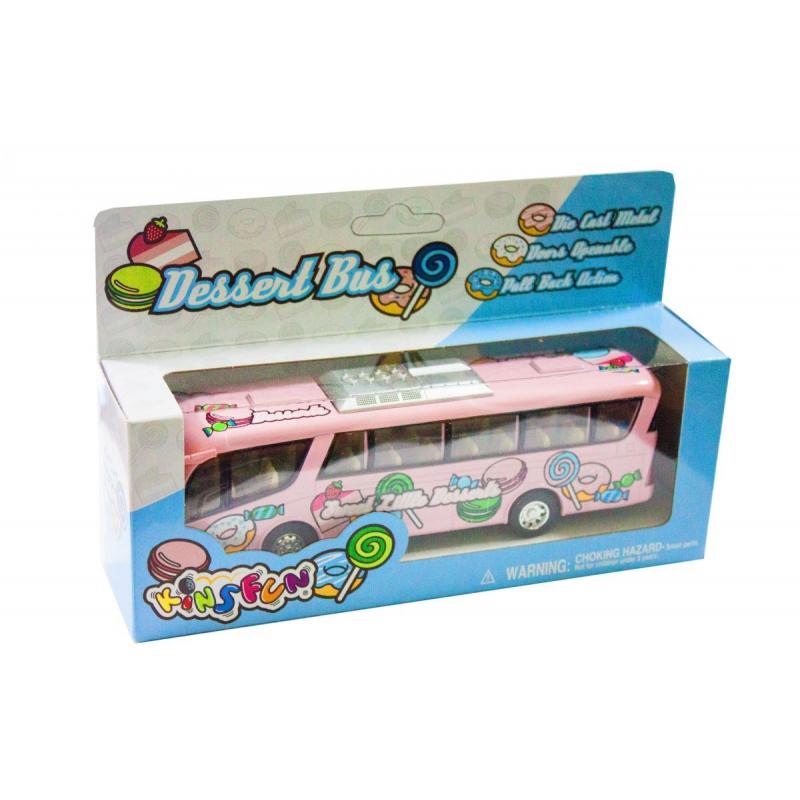 """Машинка KINSFUN Автобус розовый купить в магазине """"Пустун"""""""