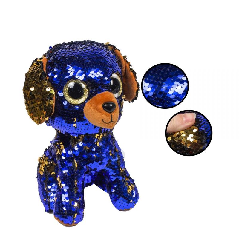 """Мягкая игрушка """"Глазастик"""" в пайетках (собака) C37828 купить в магазине """"Пустун"""""""