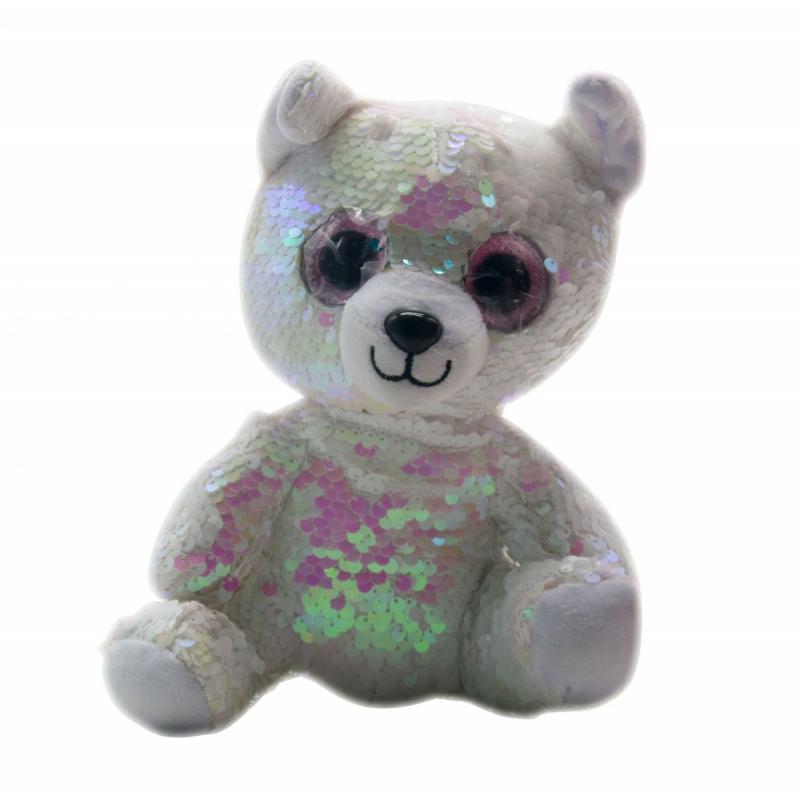 """Мягкая игрушка """"Глазастик"""" в пайетках (медведь) C37828 купить в магазине """"Пустун"""""""
