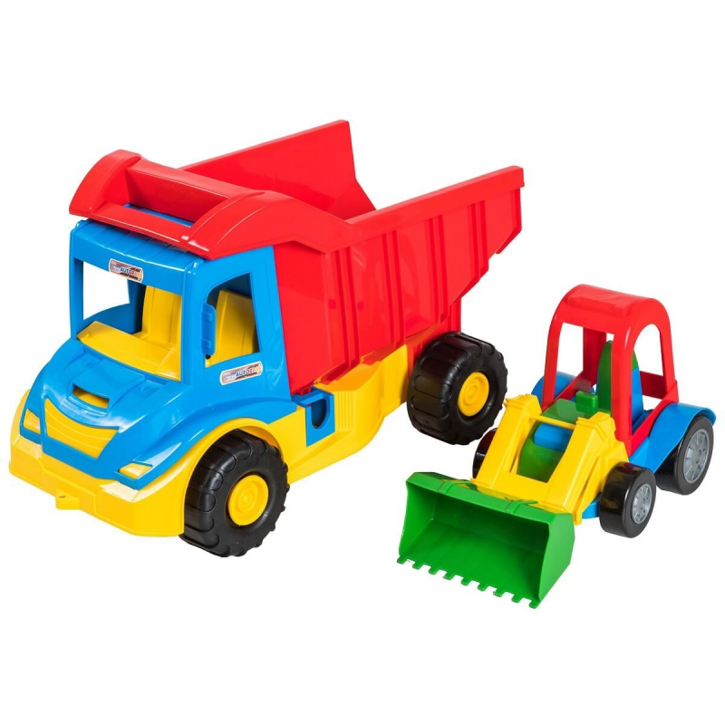 "Грузовик с трактором TIGRES Multi Truck (Синий) (39219) купить в магазине ""Пустун"""