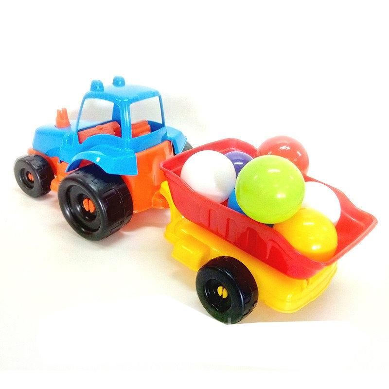 """Трактор пластиковый с шариками KW-07-711-4 купить в магазине """"Пустун"""""""