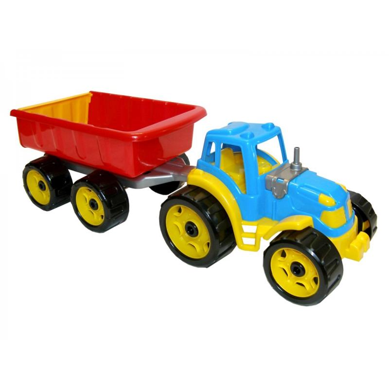 """Трактор с прицепом ТехноК (синий) купить в магазине """"Пустун"""""""