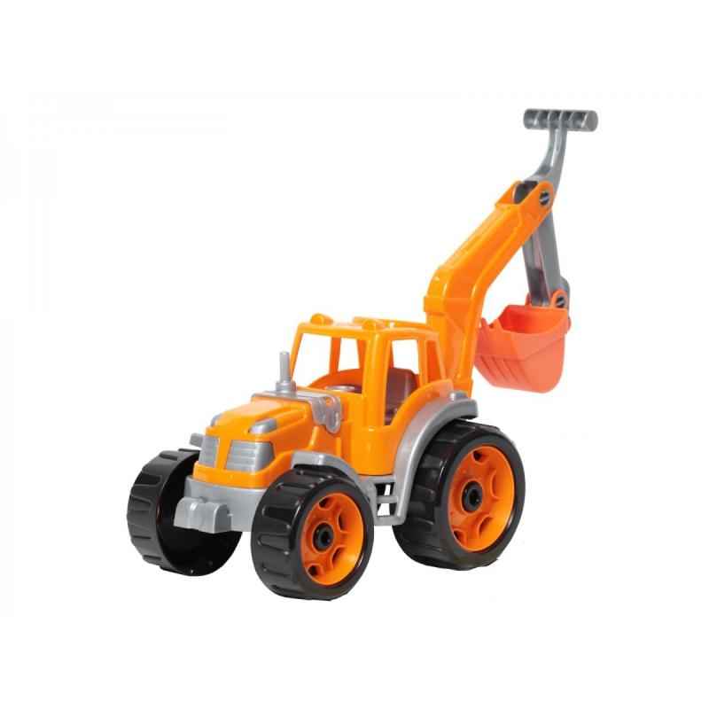 """Трактор с ковшом ТехноК (оранжевый) купить в магазине """"Пустун"""""""