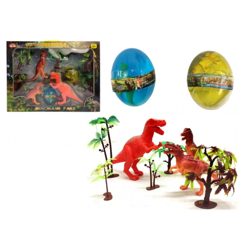 """Игровой набор Парк динозавров 2 лизуна в яйце купить в магазине """"Пустун"""""""