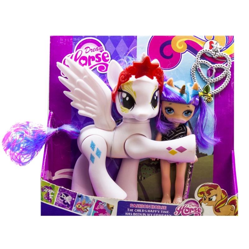 """Набор """"Dream Horse: лошадка и кукла-пони"""" (белая) LFJ850 купить в магазине """"Пустун"""""""