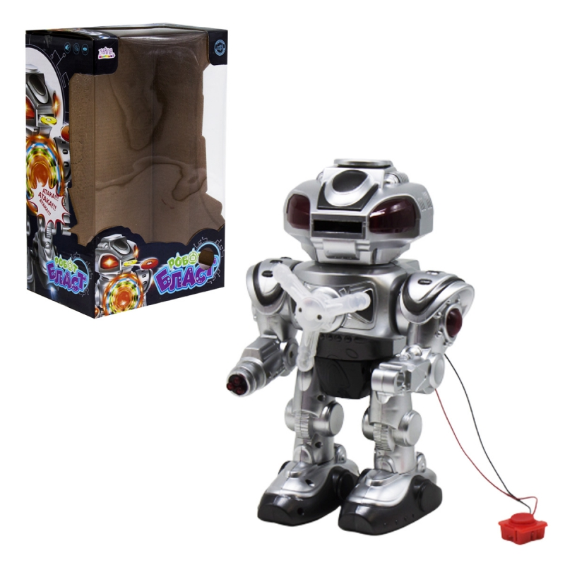 """Интерактивный робот Бласт стреляет дисками на украинском языке купить в магазине """"Пустун"""""""