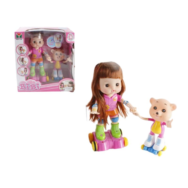 """Интерактивная кукла роллер BIBI с мишкой купить в магазине """"Пустун"""""""