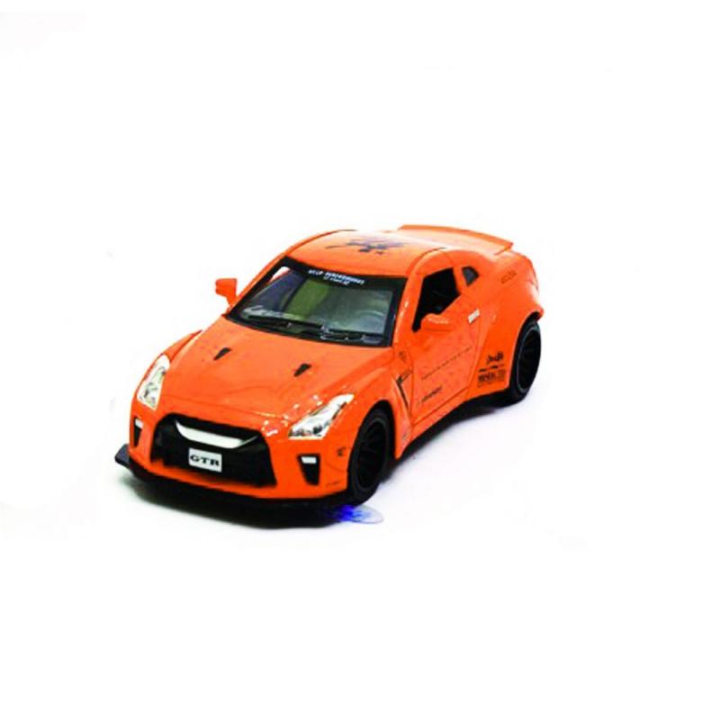 """Машинка Nissan GTR из серии Автопром (оранжевая) купить в магазине """"Пустун"""""""