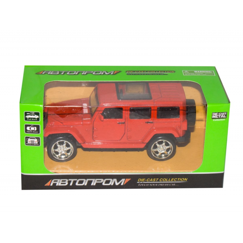 """Машинка Jeep Wrangler из серии Автопром (красная) купить в магазине """"Пустун"""""""