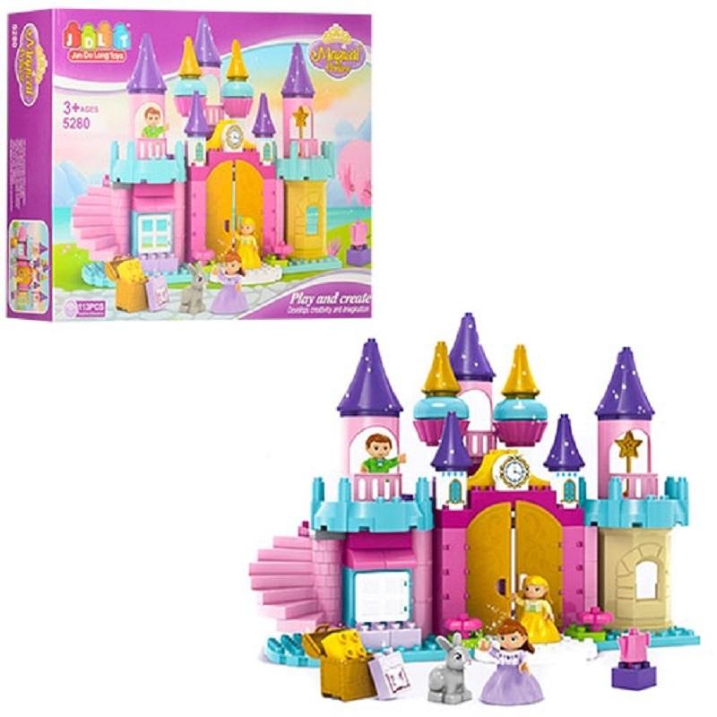 """Конструктор Замок принцессы, 113 деталей купить в магазине """"Пустун"""""""