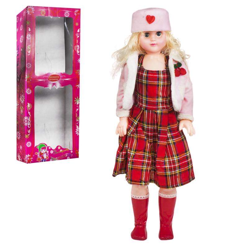 """Кукла музыкальная, 75 см (платье в клеточку) купить в магазине """"Пустун"""""""