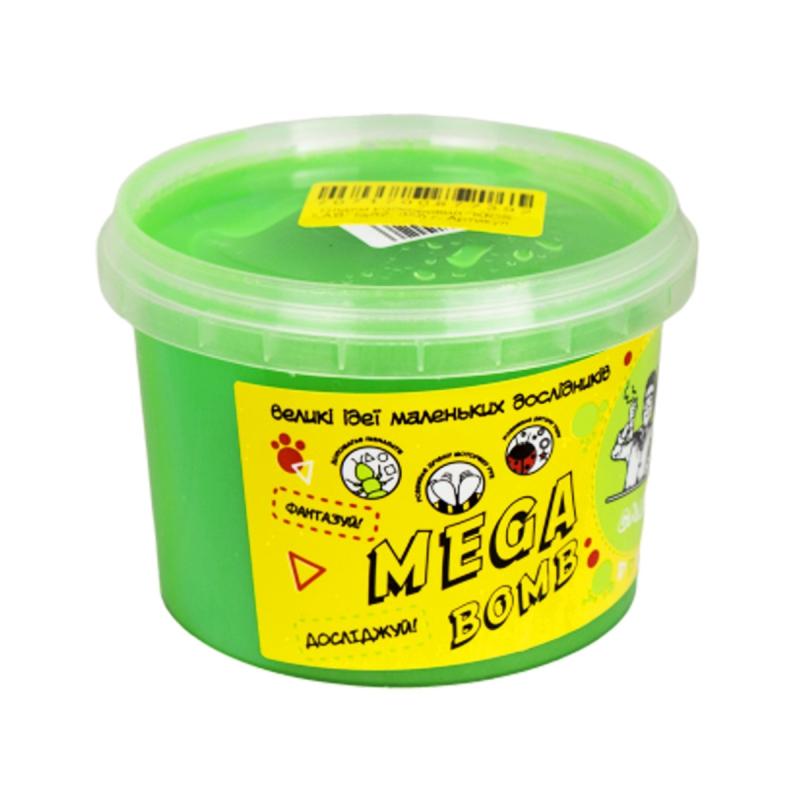 """Слайм Kids Lab: Mega Bomb №2, 350 г (зеленый) купить в магазине """"Пустун"""""""