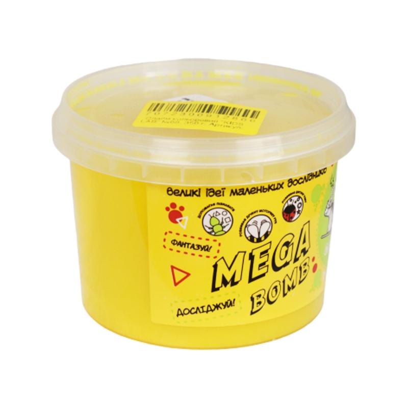 """Слайм Kids Lab: Mega Bomb №8, 350 г (желтый) купить в магазине """"Пустун"""""""