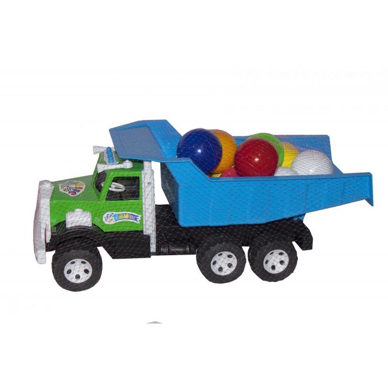 """Машинка Фарго с пластиковыми шариками (с синим кузовом) купить в магазине """"Пустун"""""""