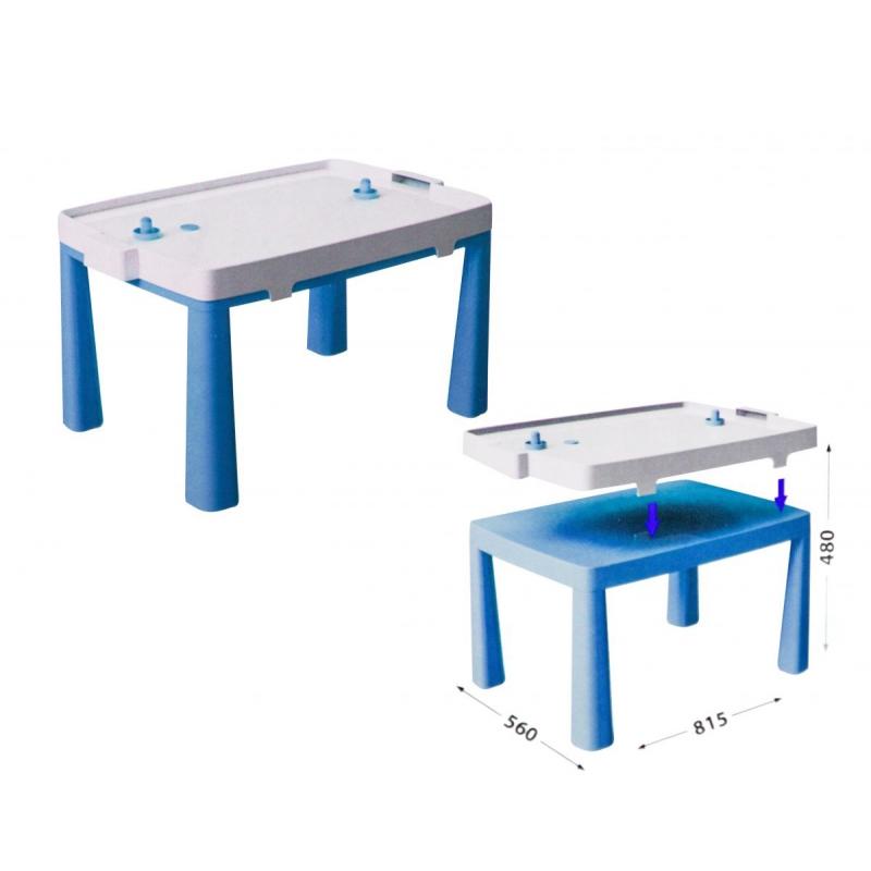 """Пластиковый стол с насадкой для аэрохоккея (синий) купить в магазине """"Пустун"""""""