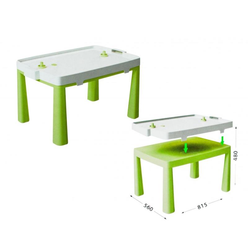 """Пластиковый стол с насадкой для аэрохоккея (салатовый) 04580/2 купить в магазине """"Пустун"""""""