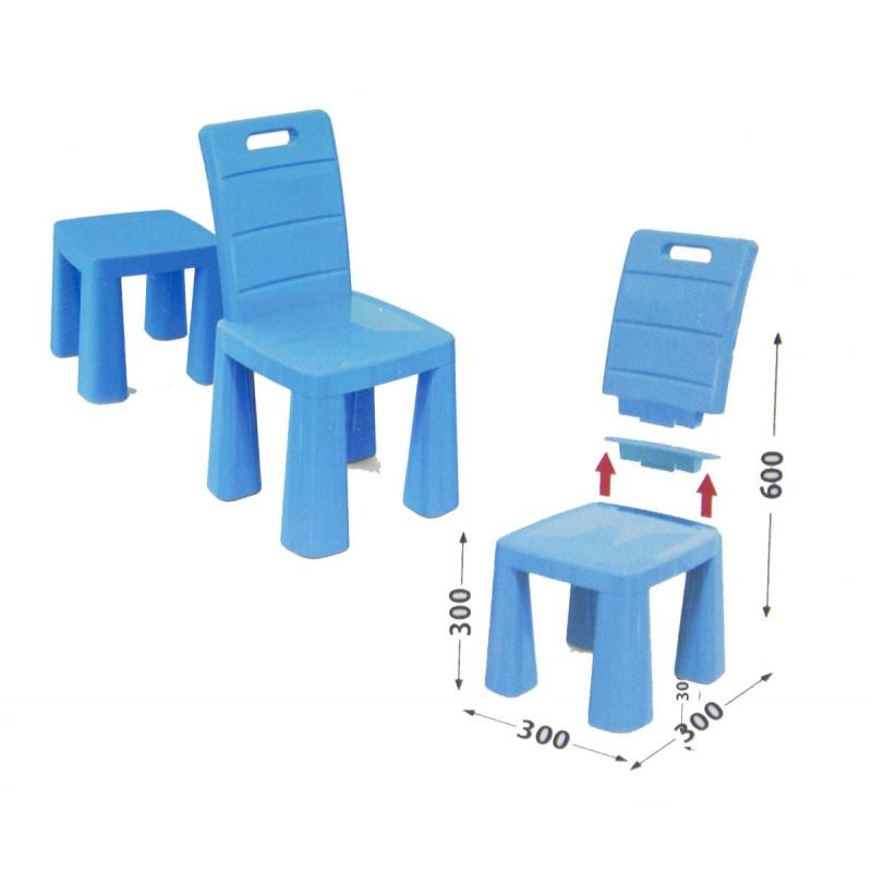 """Пластиковый стульчик-табурет (синий) 04690/1 купить в магазине """"Пустун"""""""